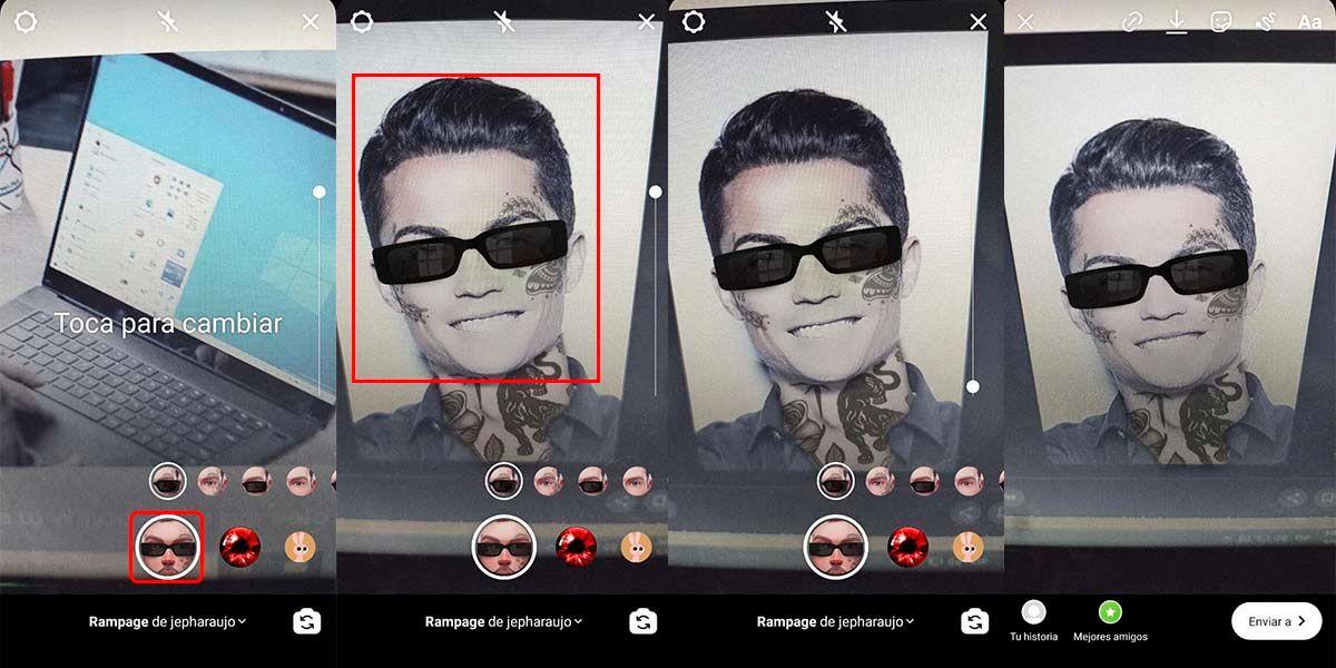 Cómo usar filtro Instagram que te pone tatuajes en la cara