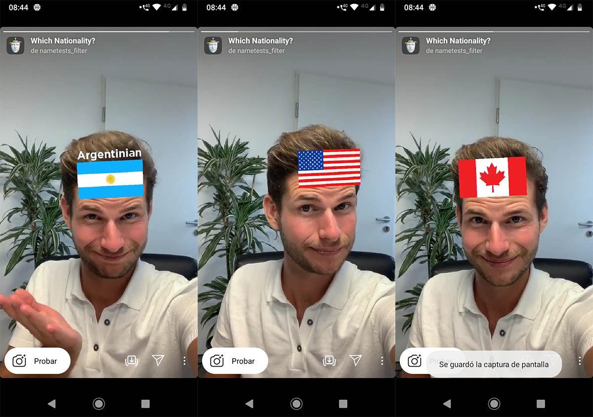 Cómo usar filtro cuál es tu nacionalidad Instagram