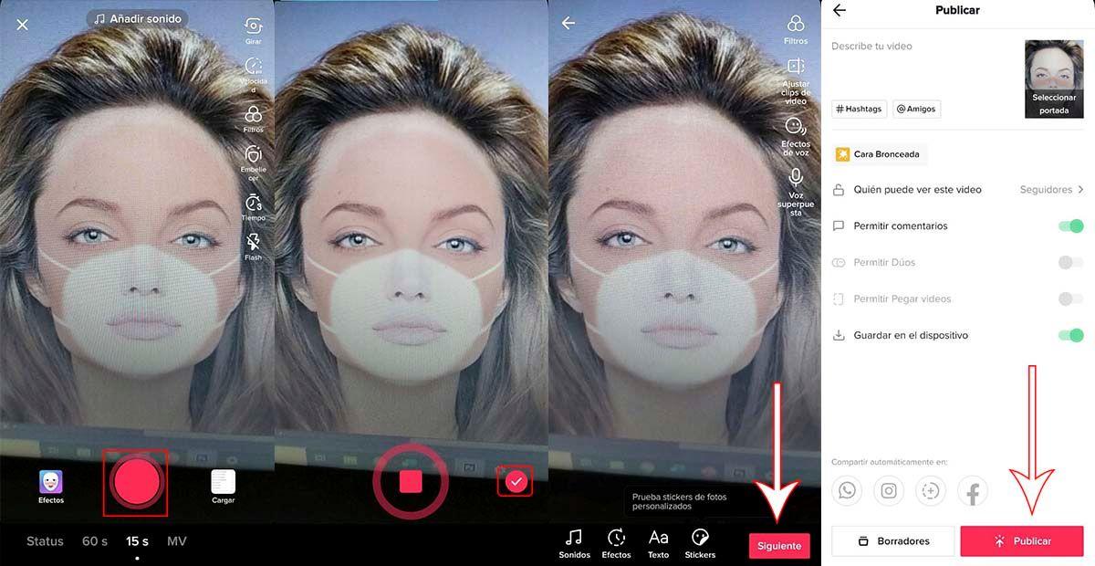 Cómo usar filtro de TikTok para hacer broma mascarilla al sol viral