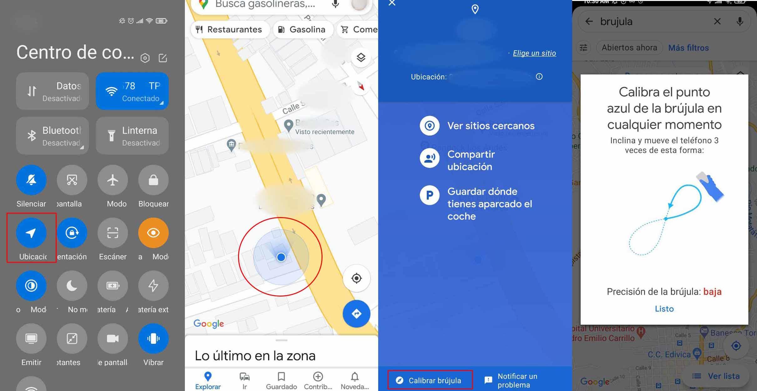 Cómo usar la brújula de Google Maps