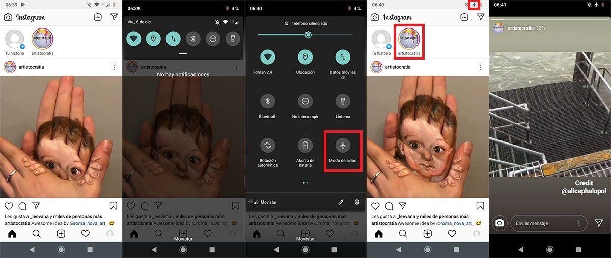 Como ver Stories de Instagram sin que se enteren