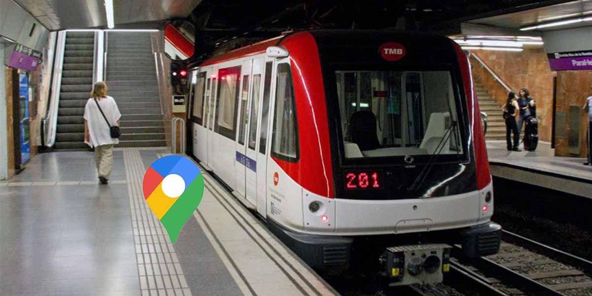 Cómo ver los horarios del metro de Barcelona en el móvil con Google Maps