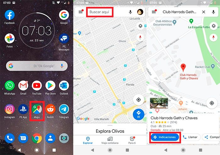 Como ver radares de velocidad en Google Maps paso 1