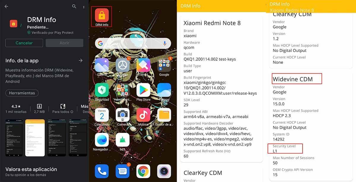 Cómo verificar la certificación Widevine de tu móvil Android con DRM Info