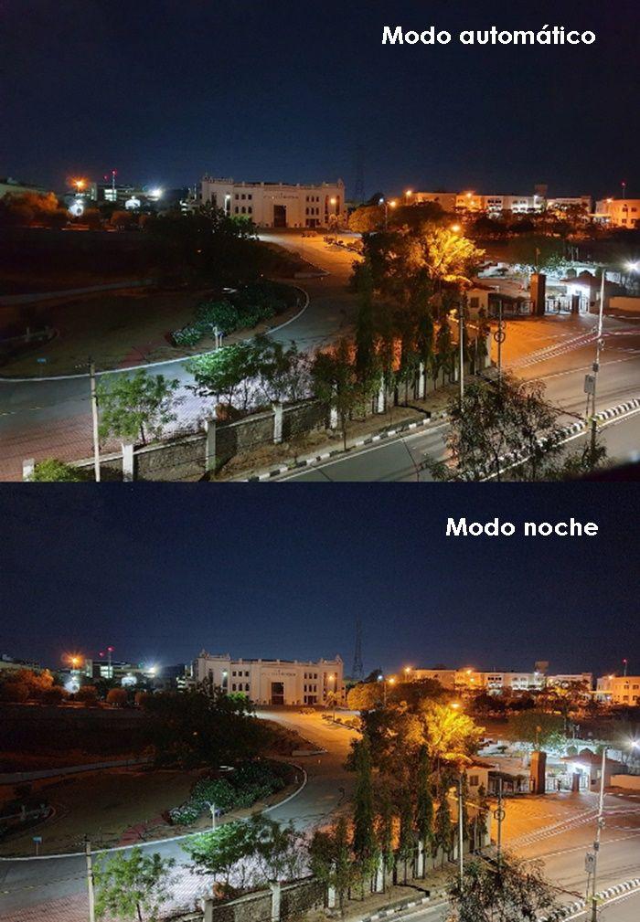 Comparacion del S9 con modo noche y sin modo noche