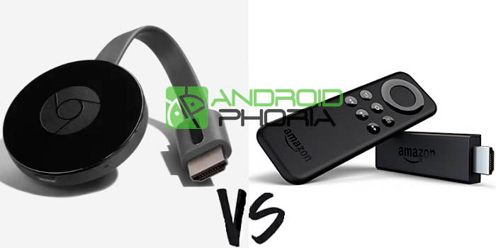Comparativa Chromecast vs Amazon Fire TV Stick