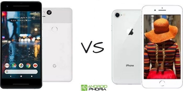 Comparativa Google Pixel 2 vs iPhone 8