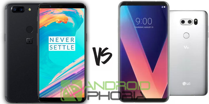 Comparativa OnePlus 5T LG V30