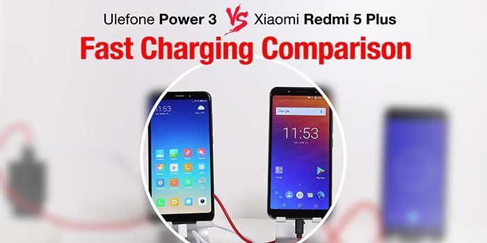 Comparativa carga rapida Ulefone Power 3