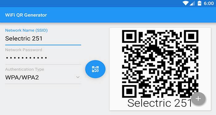 Compartilhar código QR WiFi