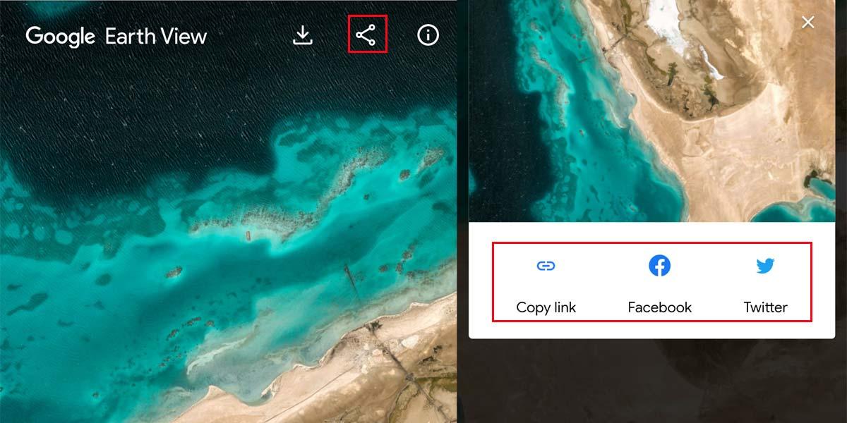Compartir imágenes con Google Earth