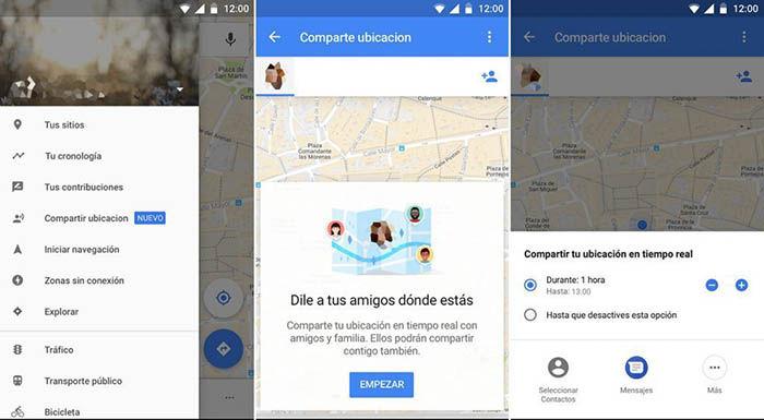 Compartir ubicación en Google Maps