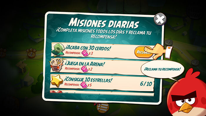 Completar misiones diarias Angry Birds 2
