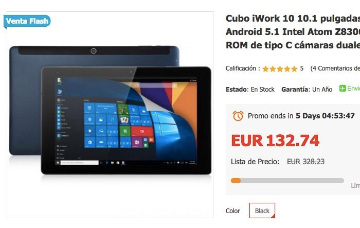 Comprar Cube iWork 10 de oferta por 130 euros