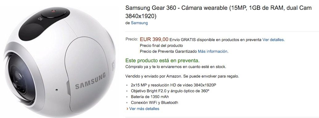 Comprar Samsung Gear 360