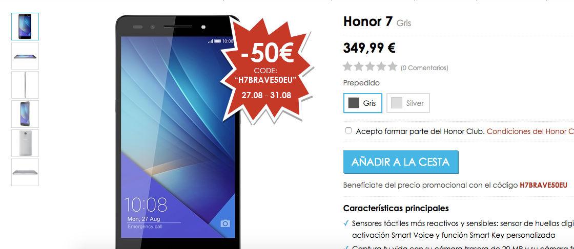 Comprar Honor 7 en España