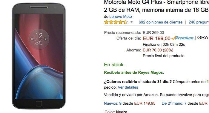 Comprar Moto G4 Plus por 199 euros de oferta