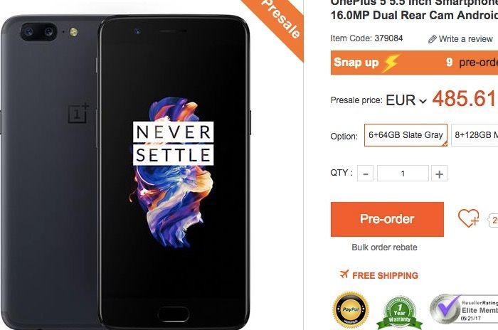 Comprar OnePlus 5 mas barato en GeekBuying