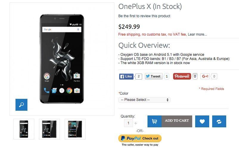 Comprar OnePlus X sin invitación