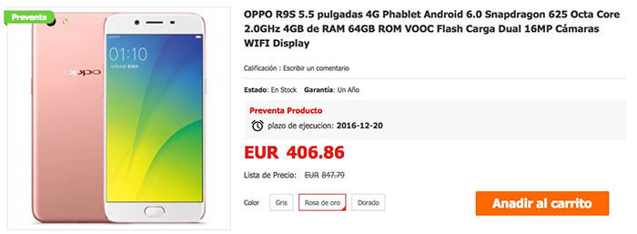 comprar-oppo-r9s-mejor-precio