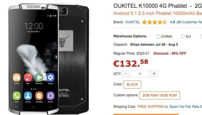 Comprar Oukitel K10000 barato