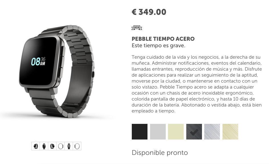 Comprar Pebble Time Steel caro