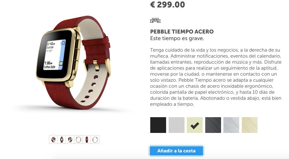 Comprar Pebble Time Steel