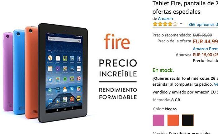 Amazon Tablet Fire H10 Comprar España