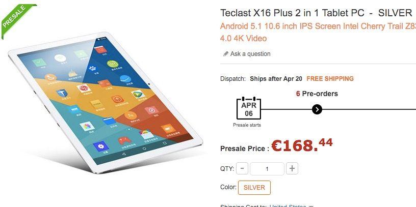 Comprar Teclast X16 Plus