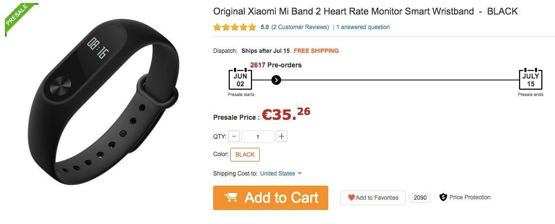 Comprar Xiaomi Mi Band 2 al mejor precio
