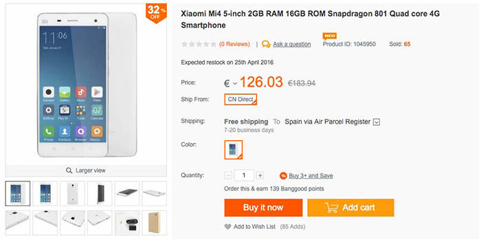 Comprar Xiaomi Mi4