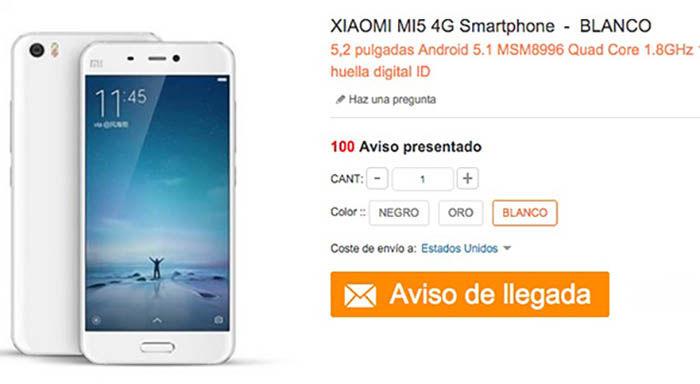 Comprar Xiaomi Mi5 oficial