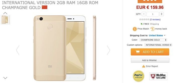 Comprar Xiaomi Redmi 4X mas barato de oferta