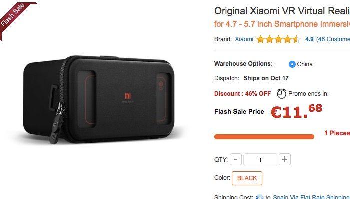 Comprar Xiaomi VR por 11 euros
