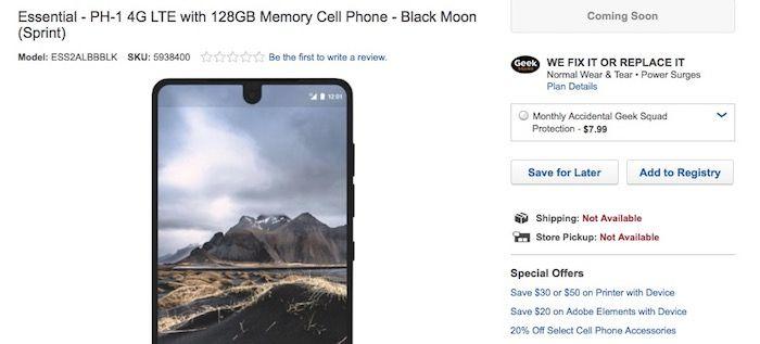 Comprar el Essential Phone en Best Buy