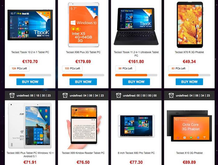 Comprar tablet GearBest