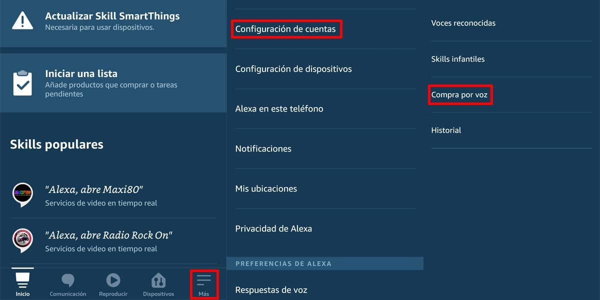 Configurar compras en Amazon Echo con Alexa