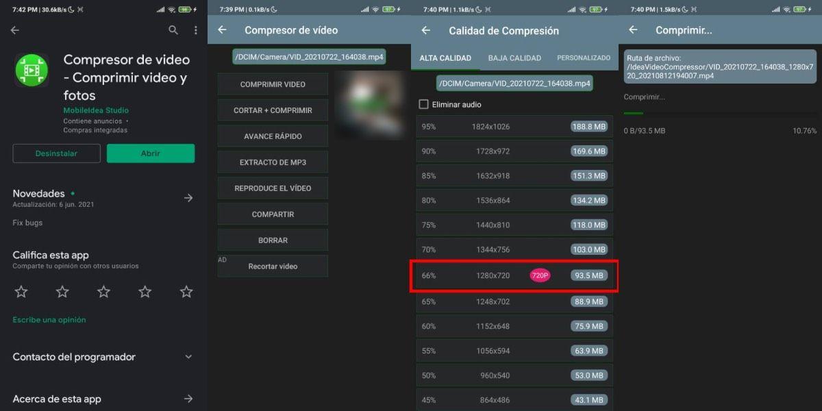Compresor de video comprimir video y fotos