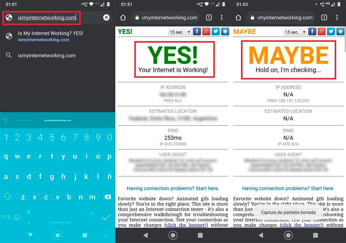 Comprobar conexion a Internet Android