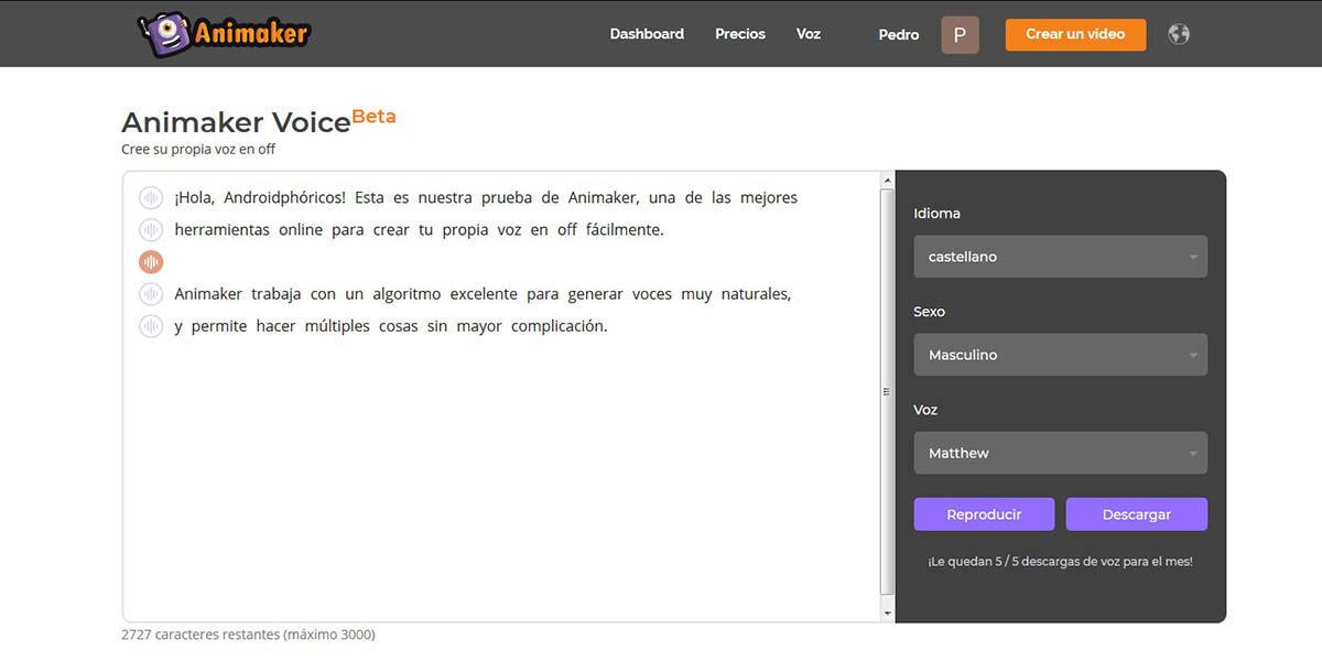 Con Animaker Voice puedes crear voces naturales en varios idiomas