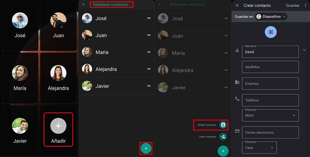 Con Lanzador modo fácil puedes gestionar contactos frecuentes