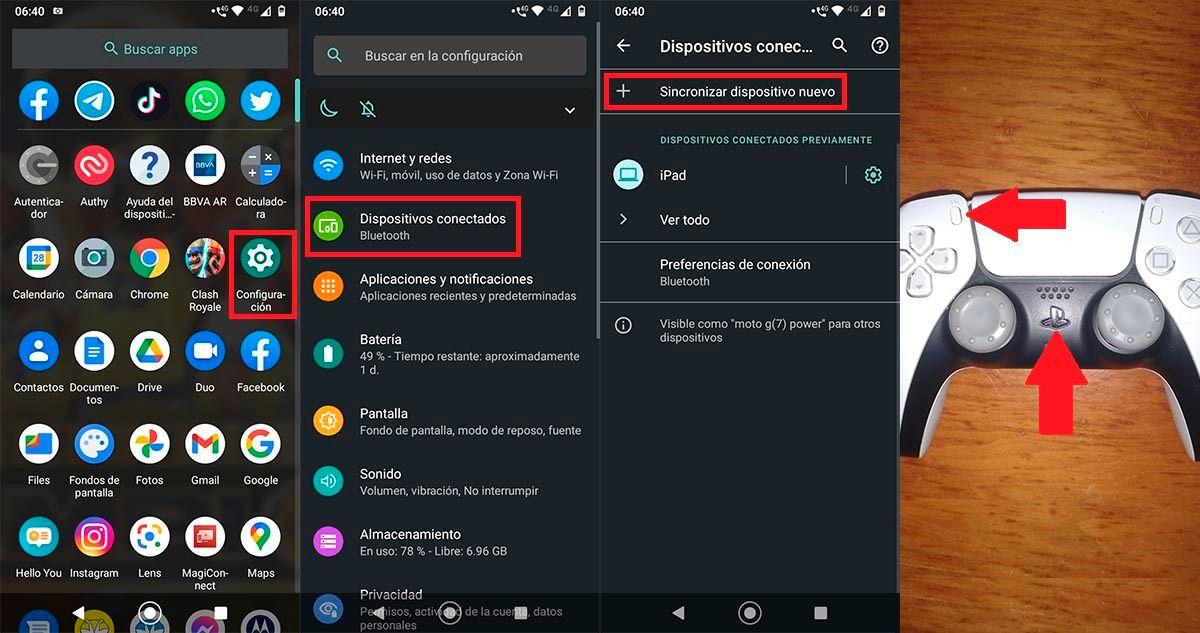 Conectar Dulsense PS5 en Android