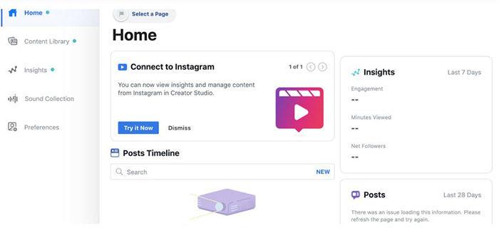 Conectar Instagram con Creator Studio