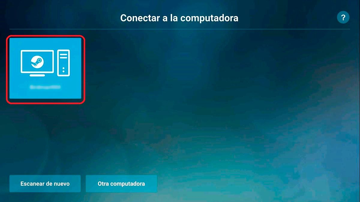 Conectar Steam Link Android TV a PC