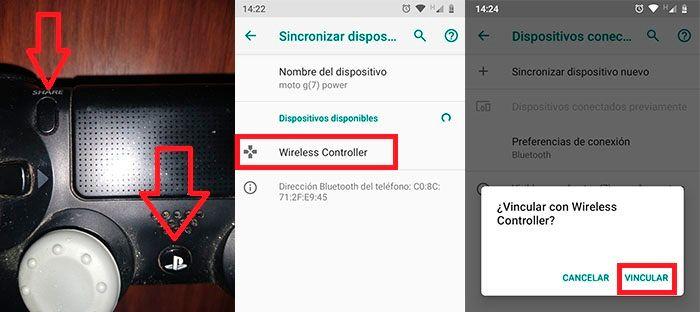 Conectar mando PS4 con smartphone Android