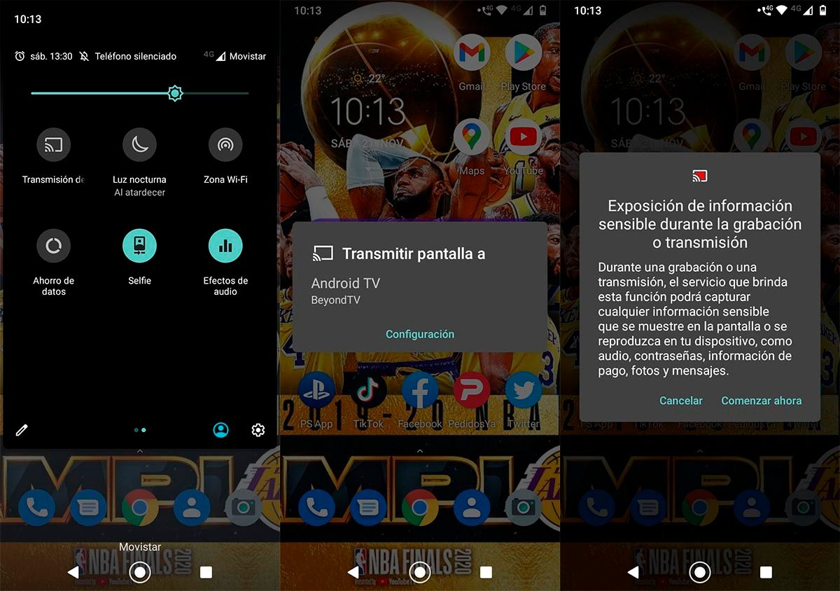 Conectar movil al Android TV