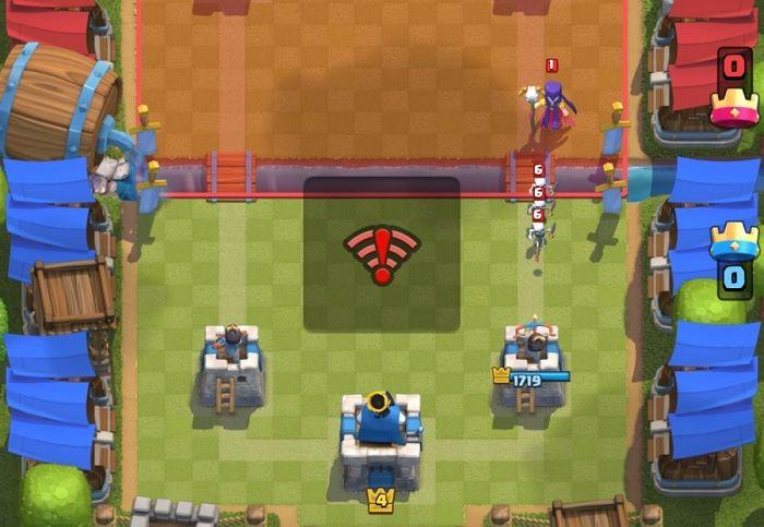 Conexión caida de Clash Royale