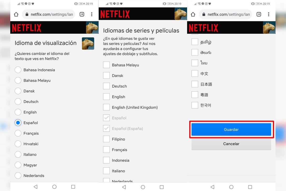 Configura los idiomas de tu app de Netflix en el móvil para ver todo el contenido en el idioma que quieras