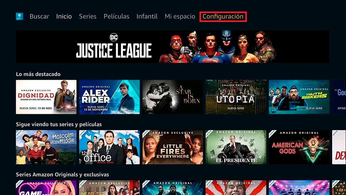 Configuracion Prime Video Android TV