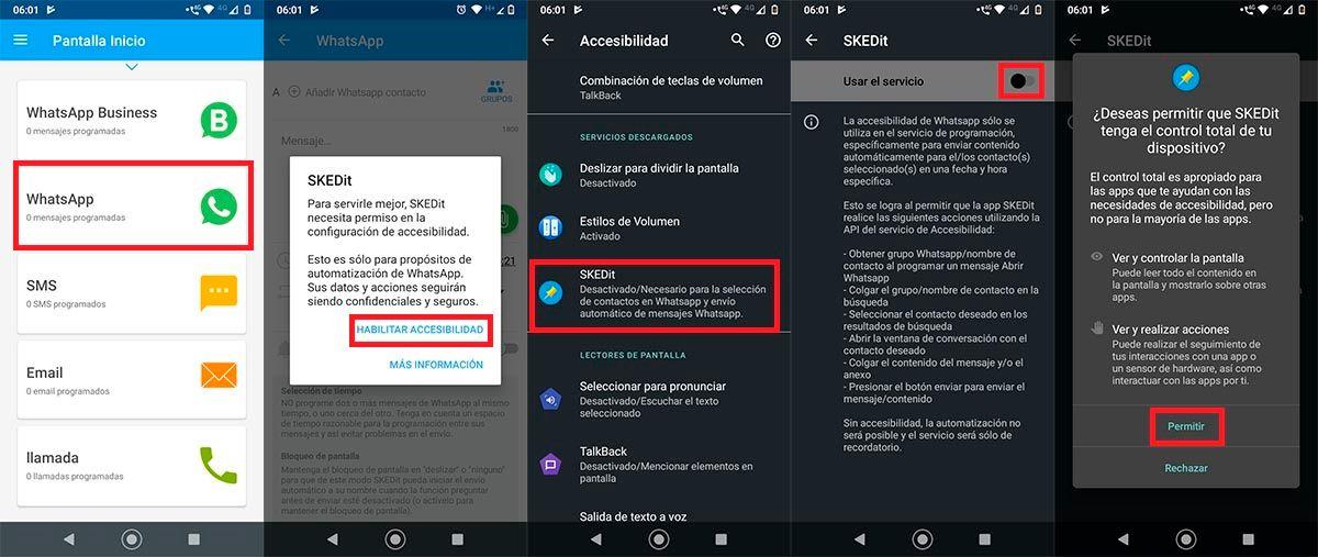 Configuracion SKEDit WhatsApp